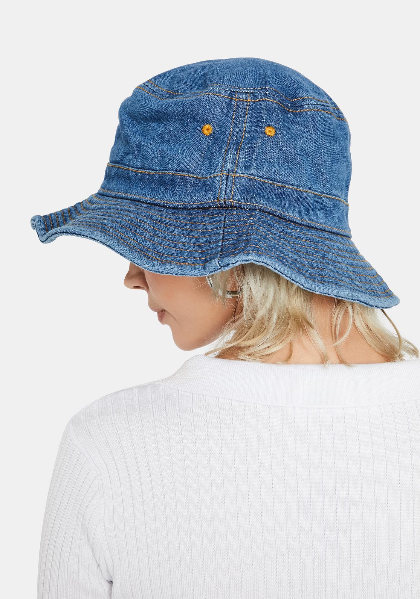 Royal Hidden Stash Denim Bucket Hat