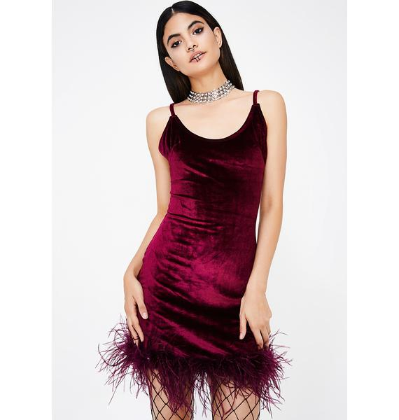 Know My Worth Velvet Mini Dress