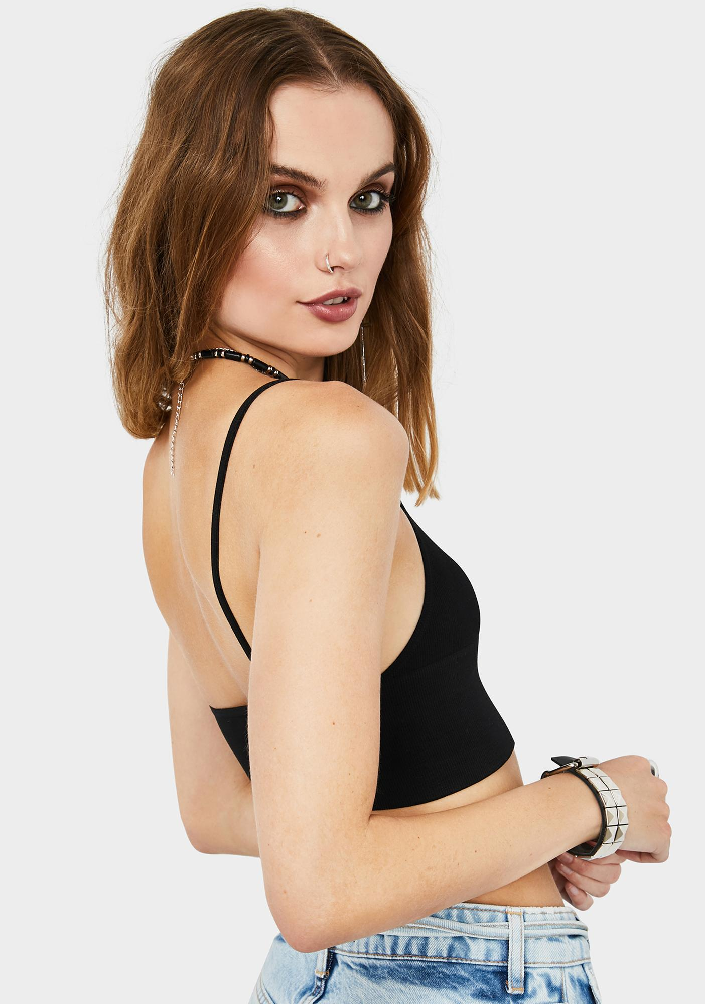 Free People Andi Square Neck Seamless Top