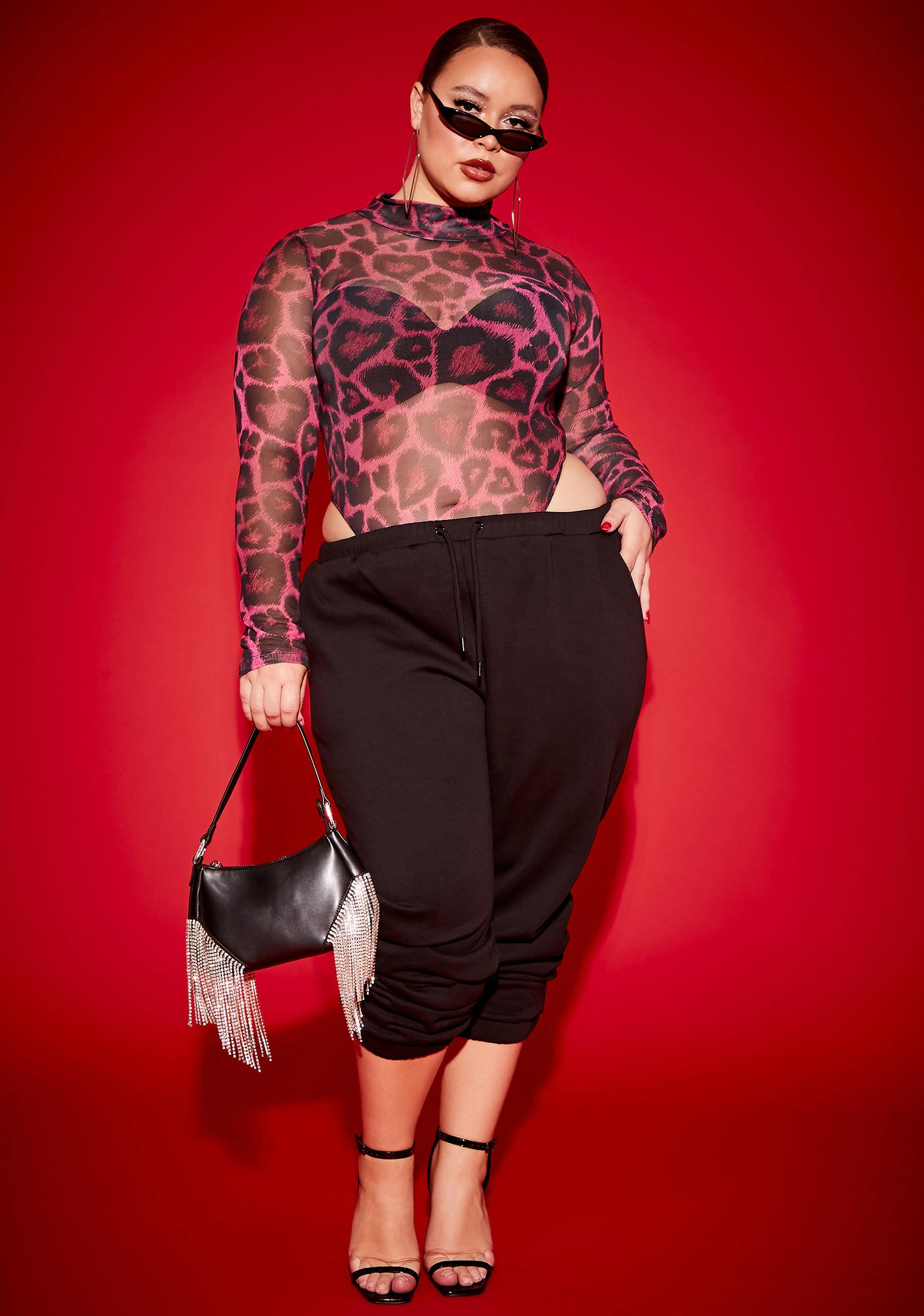 Poster Grl Miss Picking Me Cheetah Heart Bodysuit