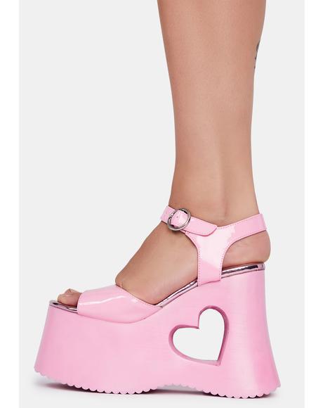 Total Charmer Platform Sandals