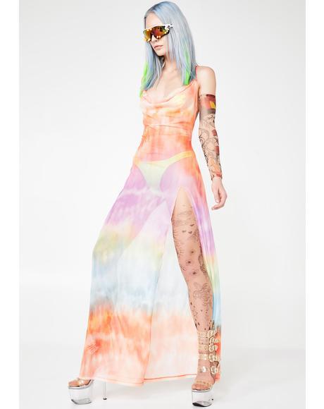 Maxi Mesh Beach Dress