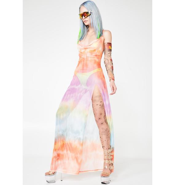Jaded London Maxi Mesh Beach Dress