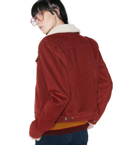 Levis Orange Tab Sherpa Trucker Jacket