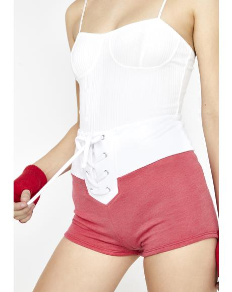 Cherry Contrast Mae Shorts
