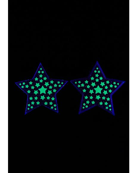 Dark Reflective Starburst Pasties