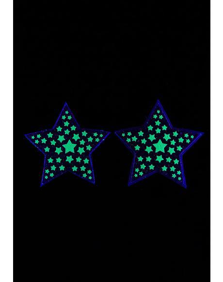 Dark Reflective Starburst Pasties