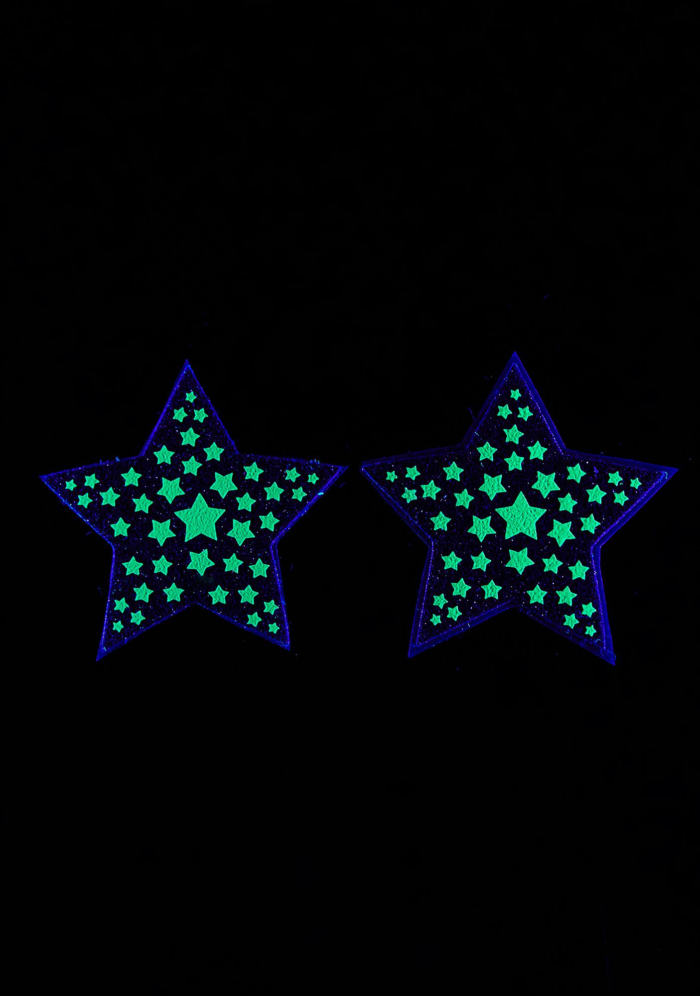 Sasswear Dark Reflective Starburst Pasties