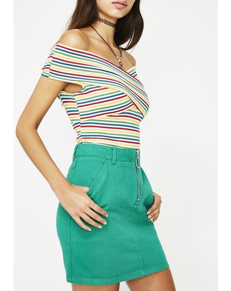 Bardi Gang Denim Skirt