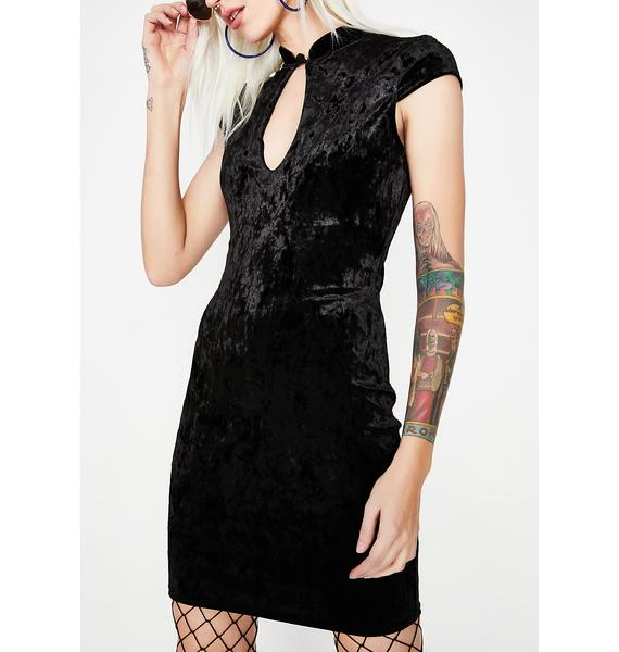 True Rebel Velvet Dress