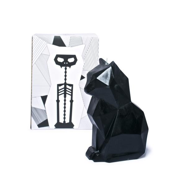 PyroPet Black Cat Kisa Candle