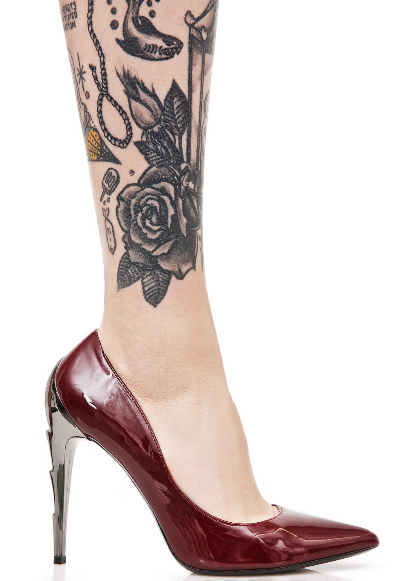 Demonia Crimson Voltage Heels
