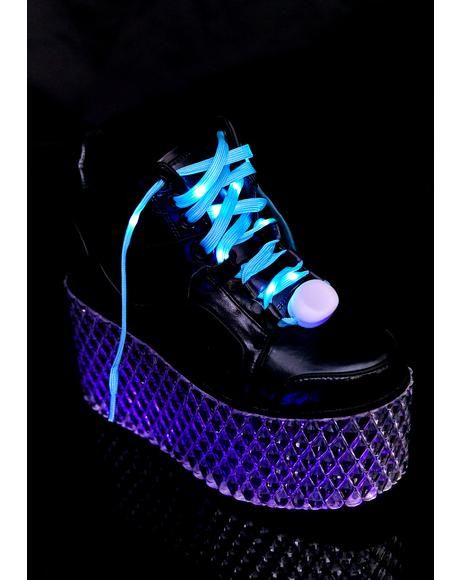 Cobalt In A Flash Light Up Shoelaces