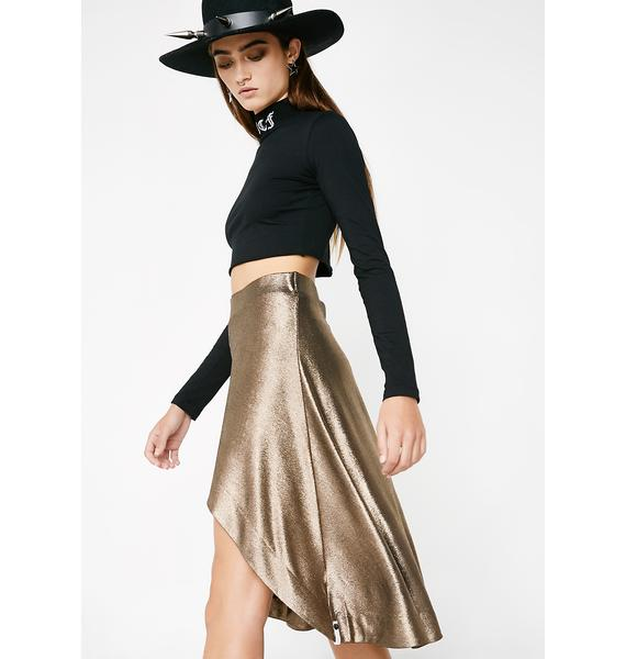 One Teaspoon Rebel Muse Metallic Skirt