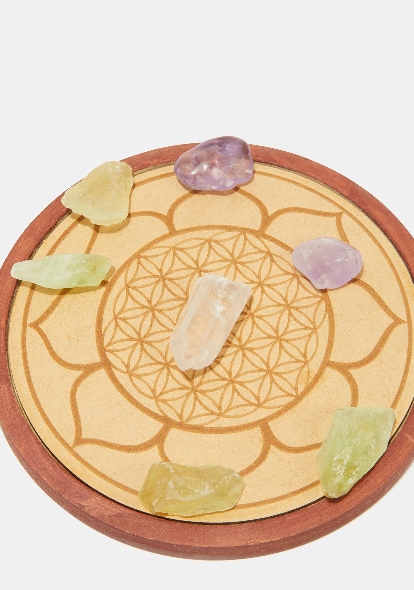 Healing Crystal Grid Set