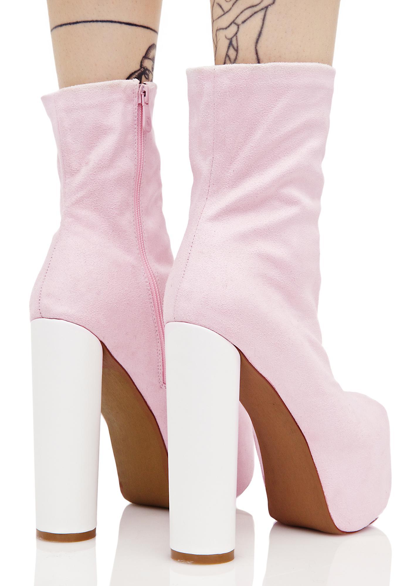 Public Desire Blush Jessa Chunky Boots