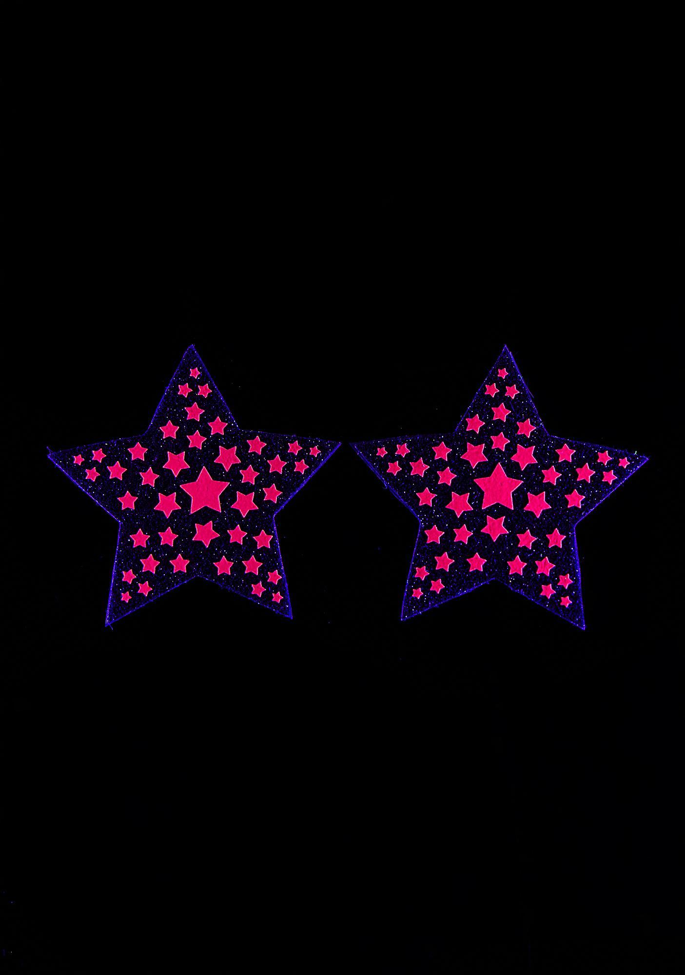 Sasswear Sweet Reflective Starburst Pasties