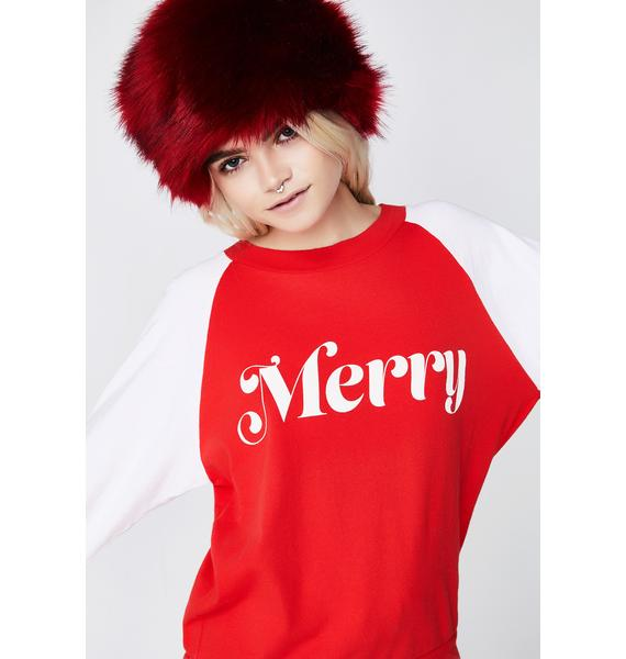 Wildfox Couture Merry Junior Sweatshirt