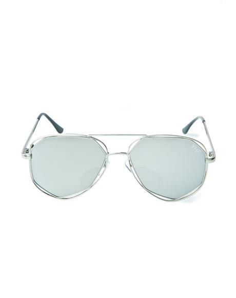 Maddie Silver Sunglasses