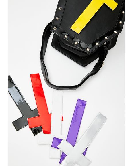 Crosses Coffin Vegan Leather Backpack