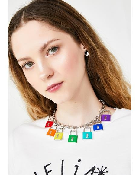 Rainbow Code Lock Necklace
