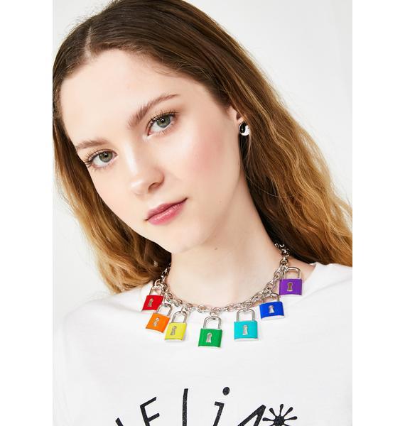 Rainbow Code Lock Necklace