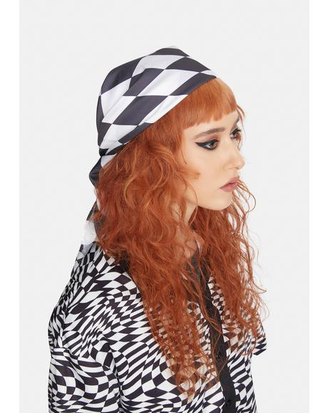 Make My Mark Checkered Head Scarf
