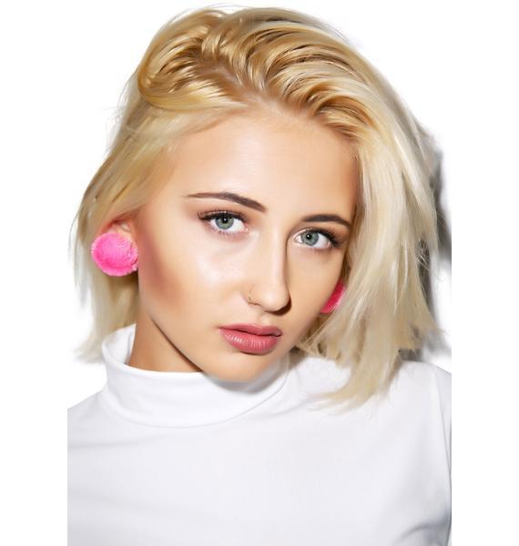 Like Whatever Pom Earrings