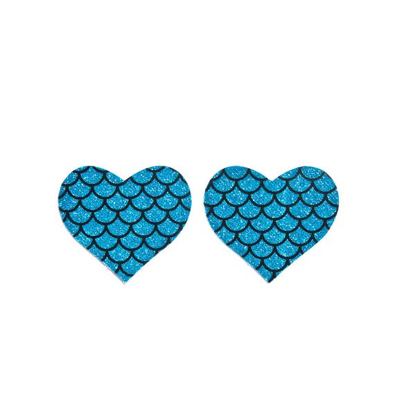 Pastease Mermaid Love Heart Pasties
