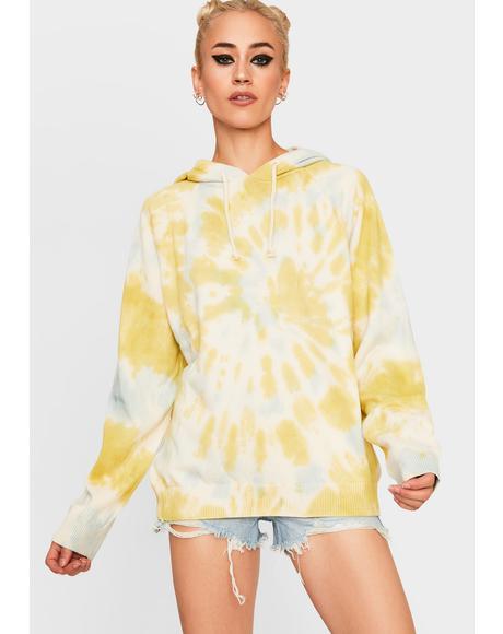 Tie Dye Knit Hoodie