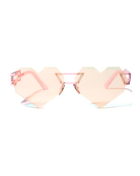 Hologram Heart Speqz Sunglasses