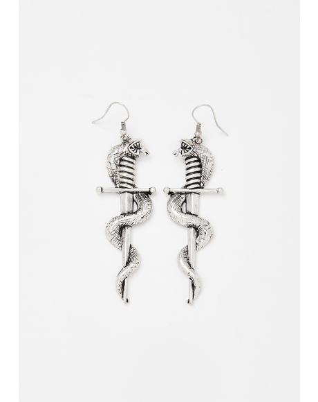 Back Stabber Drop Earrings