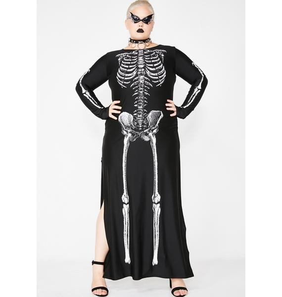 933c2399a5be Halloween Plus Size Sexy Skeleton Maxi Dress Costume | Dolls Kill