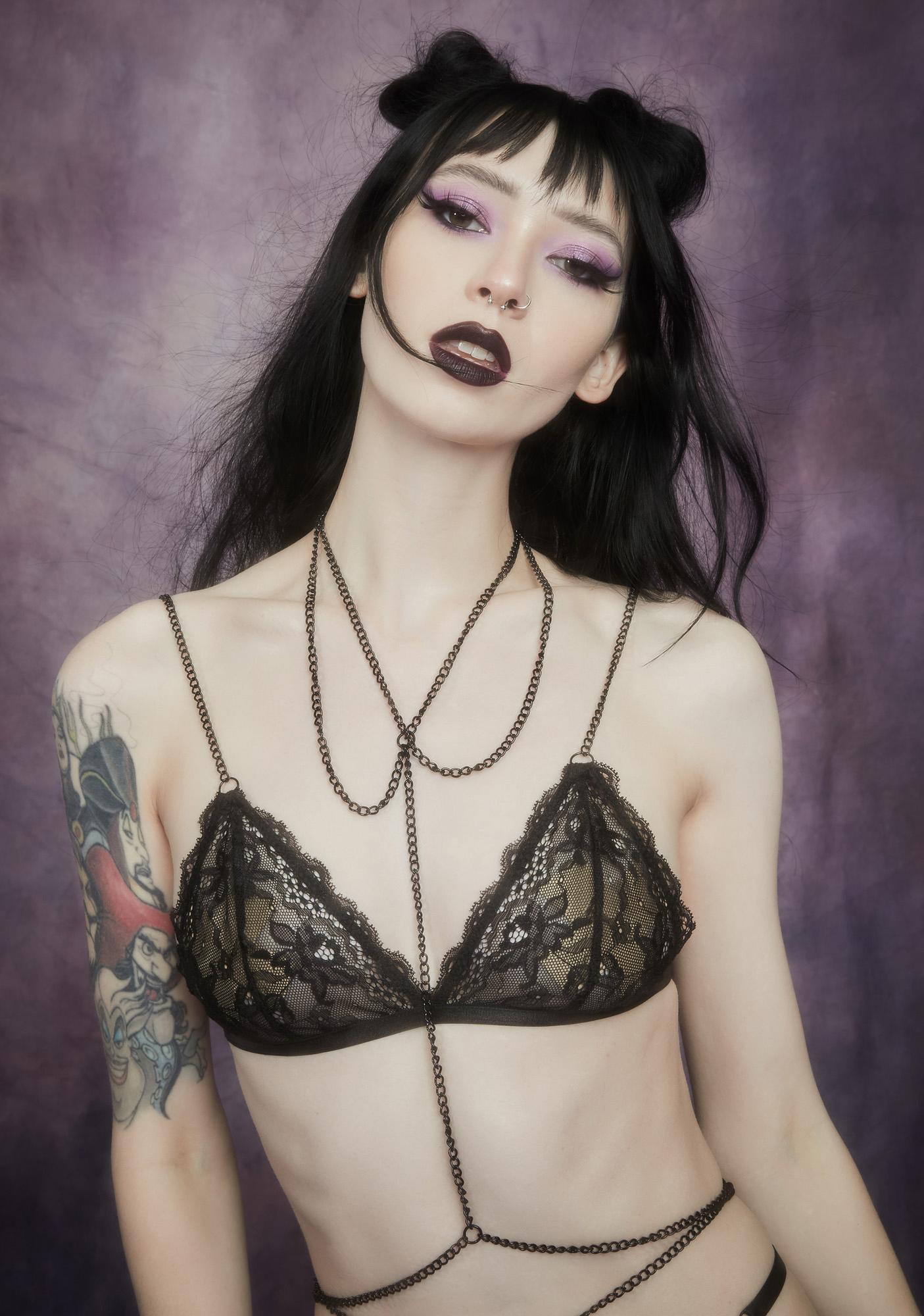 Widow Noir Outta My Shell Chain Bralette