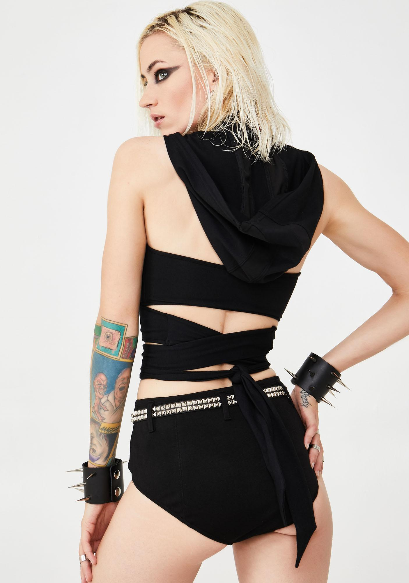 Club Exx Nocturnal Nympho Wrap Top