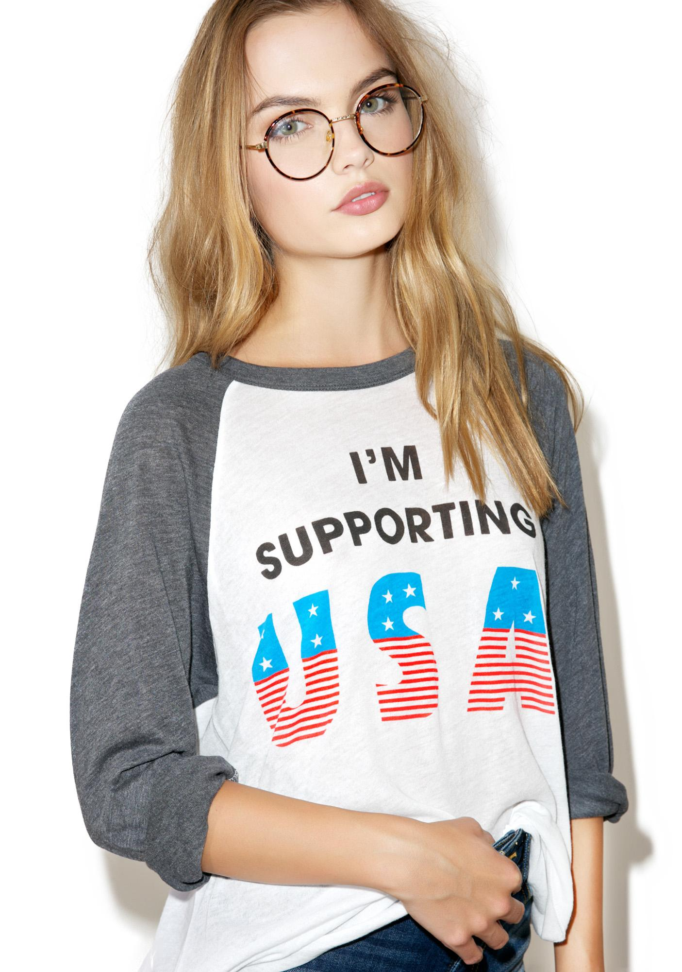 Wildfox Couture Athletic Supporter Raglan Tee