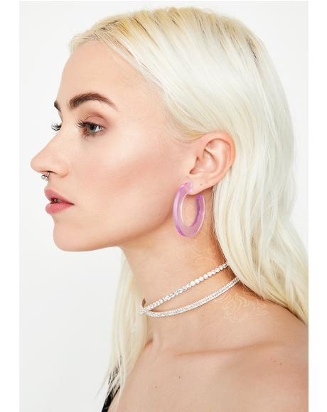 Out Of Sight Hoop Earrings