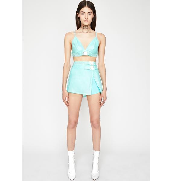 Minty Glamazon Grl Skirt Set
