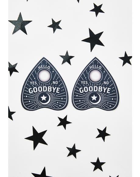 Ouija Planchette Pasties N' Stars Set
