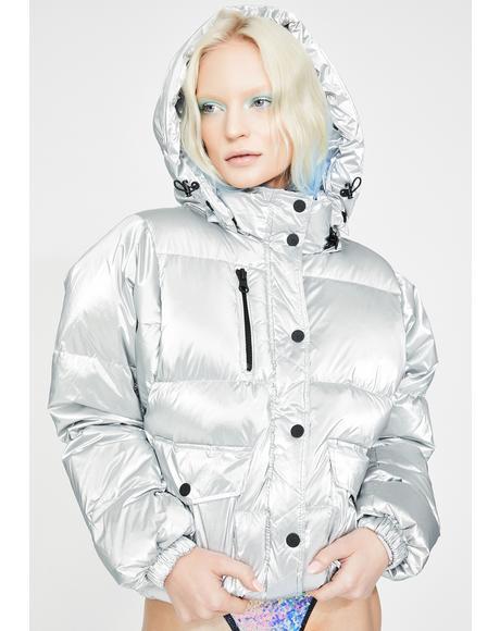 Mont Blanc Metallic Puffer Jacket