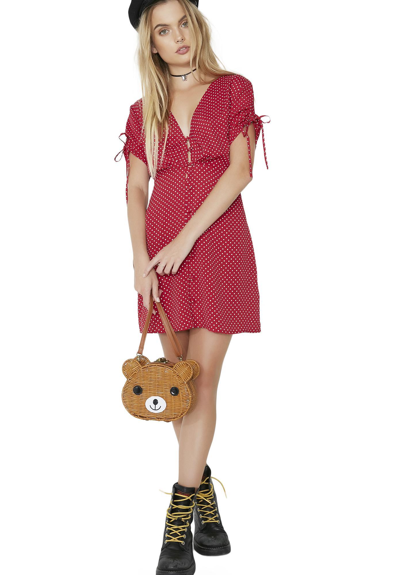 For Love & Lemons Button Up Dress