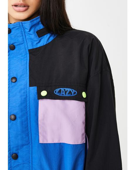 Multiplayer Panel Windbreaker Jacket