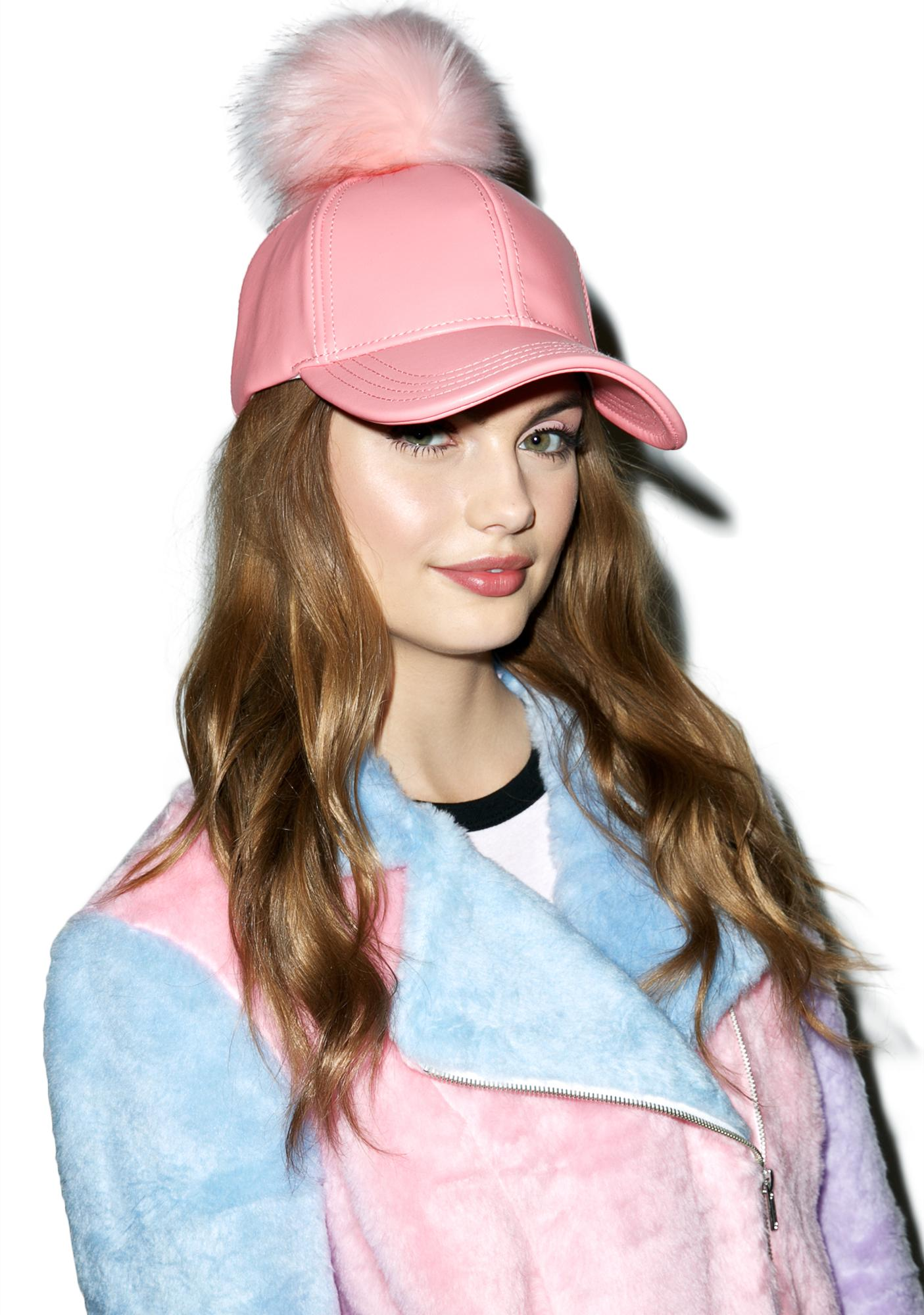 Sweet Fluff Off Pom Hat