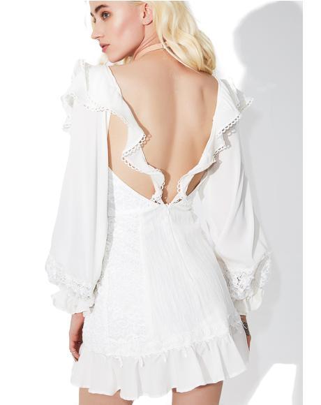 Crema Silk Linen Dress