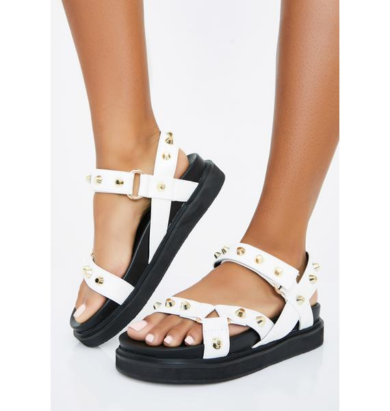 Pure Miss Gladiator Studded Sandals