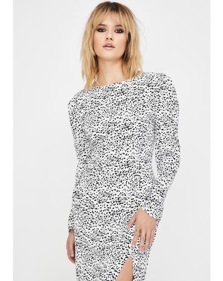 Mini Dalmatian Midi Dress