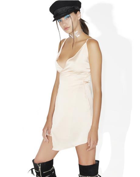 Pretty Woman Slinky Wrap Dress