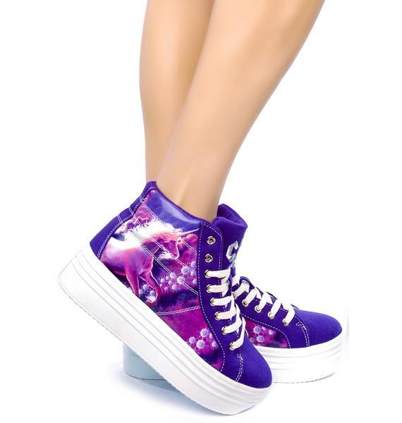 Stompin on Unicorn Platform Sneakers