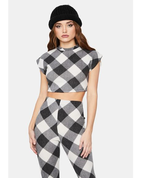 Give It Up Checkered Pant Set