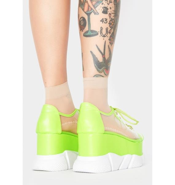 Lime Wutz Up Clear Sneakers